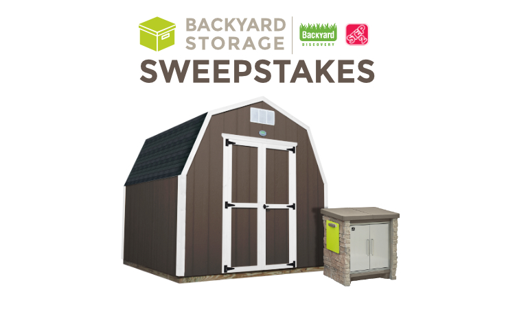 Step2 and Ready Shed Backyard Storage Sweepstages image