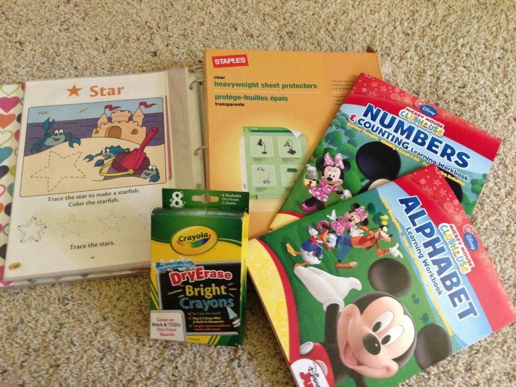 diy preschool dry erase educational workbook