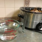 water for crock pot chicken broth