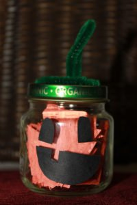 complete baby food jar pumpkin craft