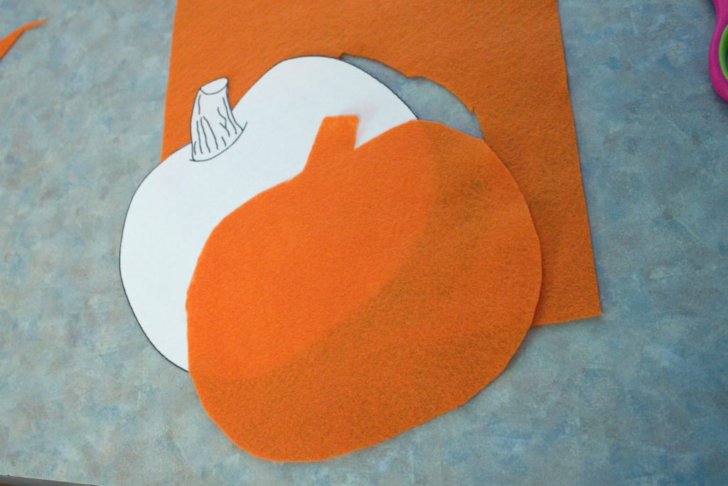 pumpkin felt activity template cut out
