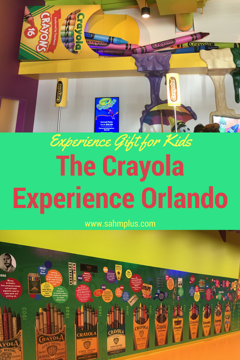 Travel review and experience gift for kids The Crayola Experience Orlando