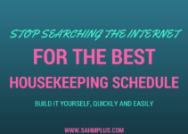 best housekeeping schedule DIY