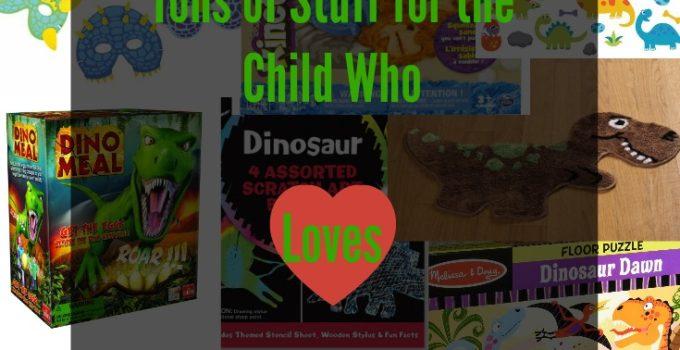 dinosaur stuff for child who loves dinosaurs