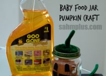 goo gone baby food jar pumpkin craft