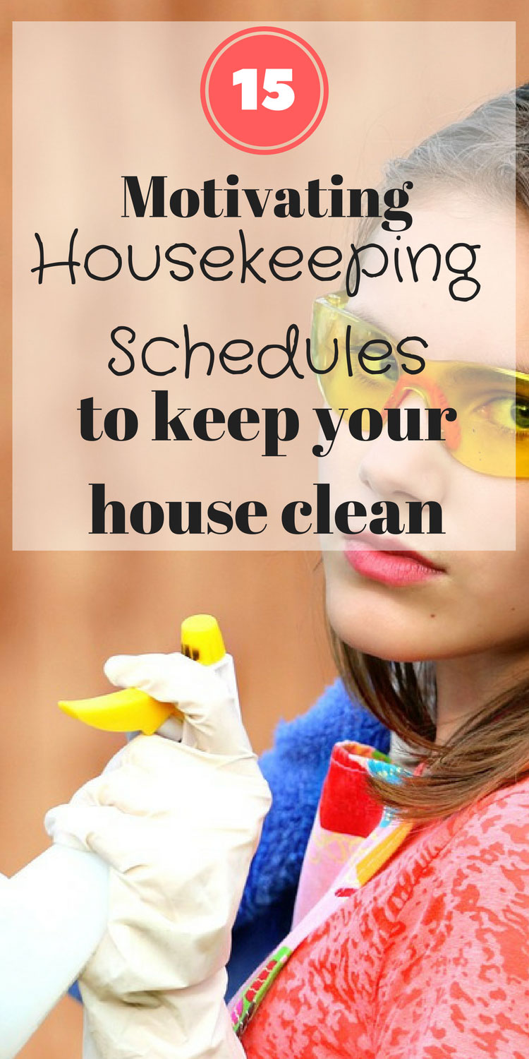 Looking for housekeeping schedule ideas?  Check out these 15 amazing cleaning schedules to inspire you to keep a clean house.