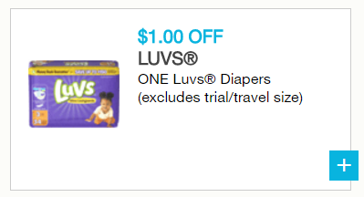 Luvs $1.00 print at home coupon
