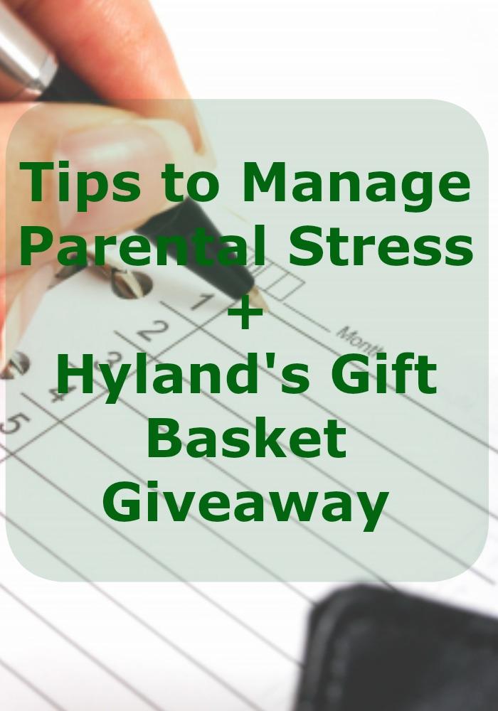 tips parenting stress Hyland's #stressless