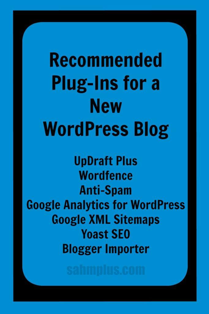7 plugins new wordpress blog